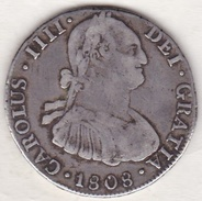 BOLIVIE Potosi 4 Reales 1808 Pj CHARLES IIII. KM# 72. ARGENT - Bolivie
