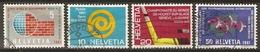 SUISSE      -   1961.   Y&T N° 673 à 676 Oblitérés.   Série Complète. - Switzerland