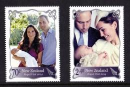 New Zealand 2014 Royal Visit Set Of 2 MNH - New Zealand