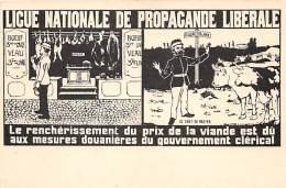 BELGIQUE - Ligue Nationale De Propagande Libérale - Carte Illustrée - Bovins / Bovids - Belgique