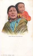 """ SIOUX SQUAW AND PAPOOSE "" INDIA NATIVE AMERICANS MILWAUKEE INDIOS INDIENS D'AMERIQUE 1900 - Indiens De L'Amerique Du Nord"