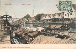 SOERABAJA UITKIJK KALIMAAS INDRAMAJOE NEDERLANDSCH INDIE INDONESIE INDONESIA 1900 JAVA NEDERLAND COLONIE TRAIN PENICHE - Indonesië