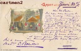 GROET UIT LOSARANG SOERABAIA INDRAMAJOE NEDERLANDSCH INDIE INDONESIE INDONESIA JAVA NEDERLAND 1900 STAMP - Indonesië