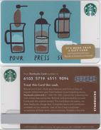 Starbucks - USA - 2014 - CN 6103 SB19 Pour - Press - Serve - Gift Cards
