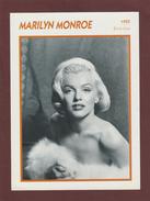 Photo De  MARILYN MONROE  De 1955  - ETATS-UNIS  - Biographie Au Dos - Papier Glaçé - Voir Les Scannes Face & Dos - Reproductions