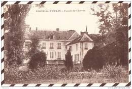 U1224 VERNEUIL L'ETANG FACADE DU CHATEAU 1917 CACHET TRESOR ET POSTE  2 SCANS - Ohne Zuordnung