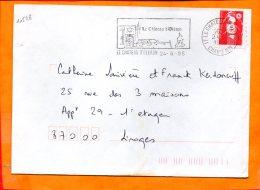 CHARENTE-MME, Le Chateau D'Oléron, Flamme SCOTEM N° 10528 - Marcophilie (Lettres)