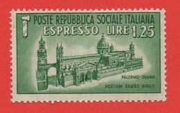 1944 (23) Duomo Di Palermo Nuovo - Leggi Il Messaggio Del Venditore - 4. 1944-45 Repubblica Sociale