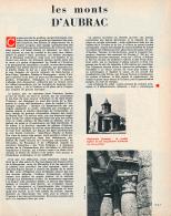 1965 : Document, L' AUBRAC (6 Pages Illustrées) Nasbinals, Saint-Urcize, Saint-Côme-d'Olt, Compostelle, Eglise... - Unclassified