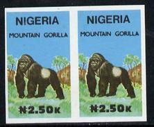 Nigeria 1990, Wildlife - Gorilla N2.50 Unmounted Mint Imperforate Pair