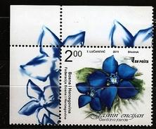 Bosnie Herzégovine Bosnia 2011 - 1 Valeur ** Flore, Fleur, Gentiana Jasnae, Gentiane, Montagne - Bosnia Erzegovina