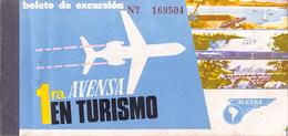 """05397 """"AVENSA  AEROVIAS VENEZOLANAS S.A. - PASSENGER TICKET N°169504 - DESTINAZIONI ILLEGGIBILI - 1979"""" ORIG. - Biglietti Di Trasporto"""