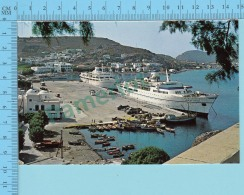 Patmos Island -  View Of Scala Animated Boat At The Pear  - 2 Scans - Grèce