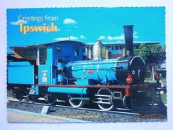 Postcard Puffing Billy Steam Engine Redbank Railway Museum Ipswich Queensland Australia My Ref B267 - Australia