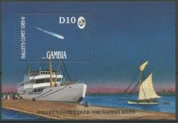 Gambia 1986 Halleyscher Komet Schiffe Block 21 Postfrisch (C23800) - Gambia (1965-...)