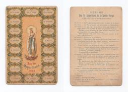 Les 18 Apparitions De La Sainte Vierge à Bernadette à La Grotte De Massabielle, Lourdes, 1858 - Devotion Images