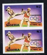 Nigeria 1992, Barcelona Olympic Games (1st Issue) N2 Value (Taekwondo) Unmounted Mint Imperf