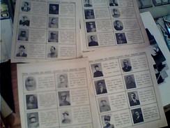 4 FOGLIETTI CON ELENCO E FOTO  MILITARI MEDICI CADUTI IN  1 GUERRA MONDIALE ITALIA NOTA DI MORTE LUOGO E MEZZO  FY11255 - 1914-18