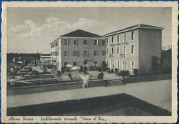 "Abano Terme Stabilimento Termale ""Vena D'Oro"". Animata VG 1940 - Italia"