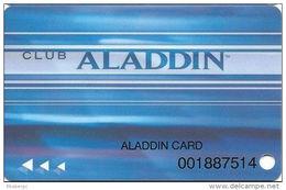 Aladdin Casino Las Vegas, NV - Slot Card - Aladdin Card Printing Temp Card - Casino Cards