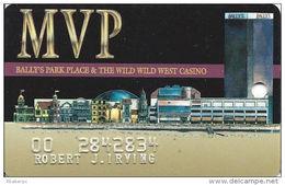 Bally´s Park Place Casino Atlantic City NJ MVP Slot Card - 3 Casinos Listed On Back - Color2 - Casino Cards