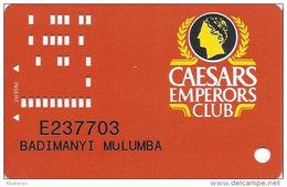 Caesars Casino Atlantic City, NJ Slot Card - Small Arrows - 8th Line Longer Than 9th Line On Reverse - Casino Cards