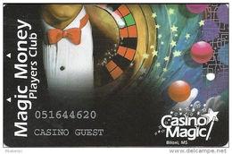 Casino Magic - Biloxi, MS - Slot Card - Casino Guest - Temp Card - Casino Cards