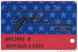 Claridge Casino - Atlantic City, NJ - Slot Card - Innovative Over Mag Stripe - Casino Cards