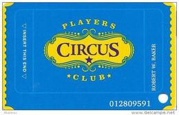 Circus Circus Casino Las Vegas, NV - Slot Card (no Mfg# On Back) - Casino Cards