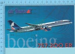 Air Transat Canada -  Boing 757 -200 ER  - 2 Scans - 1946-....: Era Moderna