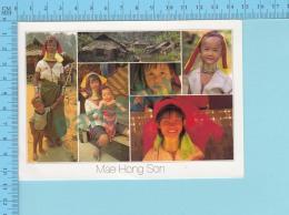 Thaïlande  Mae Hong Son - Multivues , Multiview , Femmes Et Fillettes Girafe  - 2 Scans - Thaïlande