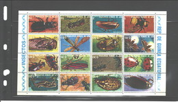 """EQUATORIAL GUINEA, 1974, #74252 - 74267  """"INSECTS"""" CTO FREE SHIPPING - Guinée Equatoriale"""