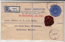 Malaya / Selangor / Stationery / Airmail - Unclassified
