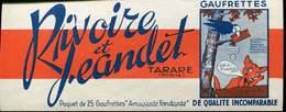 Encart Publicitaire 18x7 Cm Gaufrettes Rivoire Et Jeandet Tbe - Non Classés