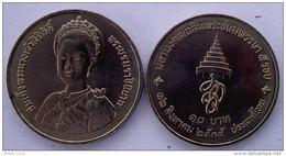 THAILANDIA 10 BAHT 1992 QUEEN 60 COMPLEANNO ANNIVERSARIO UNC - Tailandia