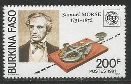 1991 Burkina Faso Samuel Morse Inventor  Complete Set Of 1 MNH - Burkina Faso (1984-...)