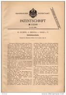 Original Patentschrift - H. Stoepel In Brehna - Sandersdorf B. Halle A.S. , 1897 , Schnitzelmesserkasten , Roitzsch !!! - Historische Dokumente