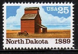 USA 1989  North Dakota Statehood Centennial Stamp #2403 Farm Landscape History - Agriculture