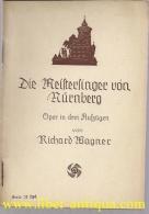 Die Meistersinger Von Nürnberg: Oper In Drei Aufzügen - Alte Bücher