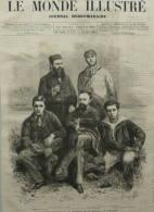 Le Dr. Crevaux - Didelot - Dr. Rillet, Astronome - M. Hautrat - Mission Du Paraguay  - Page Original 1882 - Historical Documents