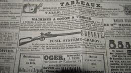 FUSIL SYSTEME CHAROY - PUBLICITE DE 1842 DANS LE JOURNAL DES DEBATS. - Publicités