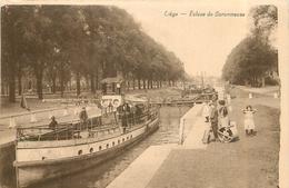 LIEGE - Ecluse Du Coronmeuse, Bateaux. - Liege