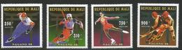1996 Mali Winter Olympics Hockey Figure Skating Complete Set Of 4 MNH - Malí (1959-...)