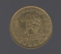 Ville De Hyeres Dans Le Var     1 Euro Du 6 Au 20 Jullet 1997 - France