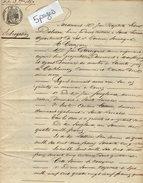 VP7768 SAINTE LIVRADE  Acte De 1867 Subrogation Par GARRIGUES Au Moulin De Lacoste ( CASTELMORON) à MONFLANQUIN & Autres - Manuscripten