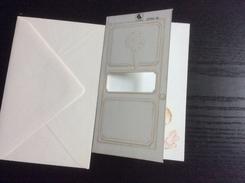 Carte Double Pour Annonce Ou Félicitations De Naissance (avec Enveloppe) 13x8 Cm - Nascite