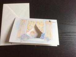Carte 3 Volets  Pour Annonce Ou Félicitations De Naissance (avec Enveloppe) 13x8 Cm - Nascite
