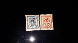 LAOS : 1956 Timbres N°34,35 Oblitérés - Laos