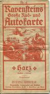 Ravensteins Große Rad- Und Autokarte - Harz 30er Jahre - Maßstab 1:300'000 - 57cm X 63cm - Vierfarbendruck Nr. 4 - Stark - Landkarten