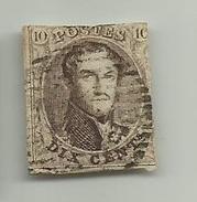 (6) Timbre Belgique Roi Léopold I Médaillon 10c - 1849-1850 Médaillons (3/5)